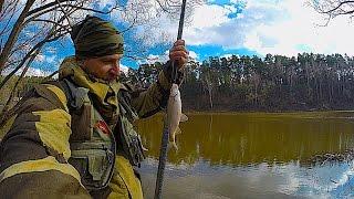 Рыбалка. Весной с мормышкой и боковым кивком по мутной воде.Где рыба?