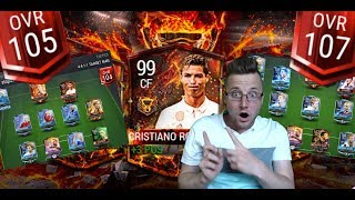Fifa mobile new 99 ovr tournament winner cristiano ronaldo gameplay vs 107 ovr! insane bicycle goal!