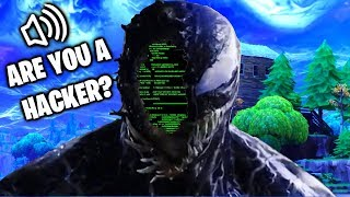 I HACK SQUAD AS VENOM IN FORTNITE (Venom plays fortnite) Venom voice changer gameplay