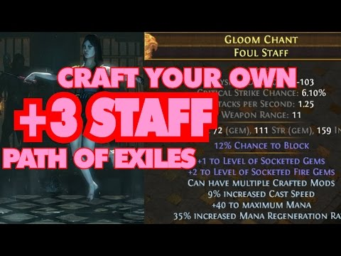 Path Of Exile +3 Staff Craft