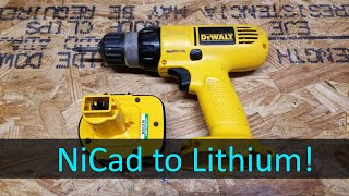 Converting a DeWalt 12V Cordless Drill from NiCad to Lithium LiFePO4