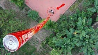 NTN - Thử Xếp 100 Lon Coca Cola Cao 10 MÉT (Building A 100 Coca Can Tower)