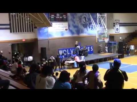 Dillon High School Marching Wildcats Marching in to Westover High School Gym Battle