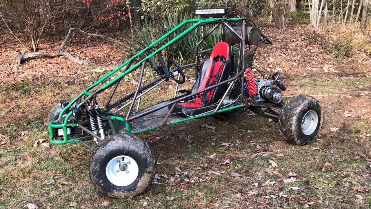 long travel full independent suspension dual engine go kart part 7