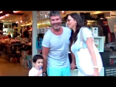 Simon Cowell And Family Beautiful In Blue