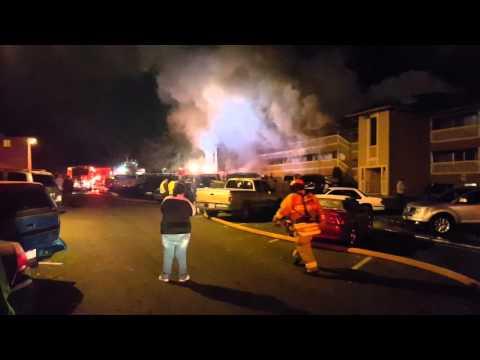 The Bluffs Apartment Fire 2 West Casino Everett, WA
