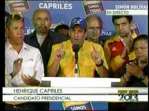 Henrique Capriles Radonski: No vamos a reconocer resultados hasta que se abran todas las cajas