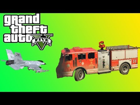 FIRETRUCK VS MILITARY BASE! (Grand Theft Auto V) thumbnail