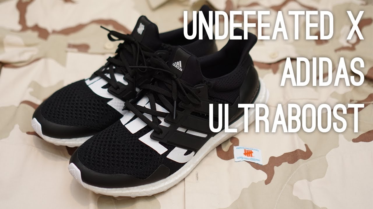 b33fcbf7da40 Undefeated x Adidas Ultraboost Black Overview - YouTube