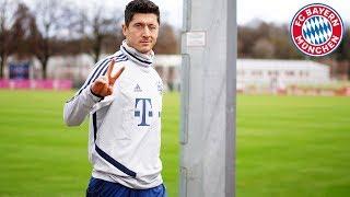 Lewandowski with a lot of swerve: FC Bayern's best training goals #6