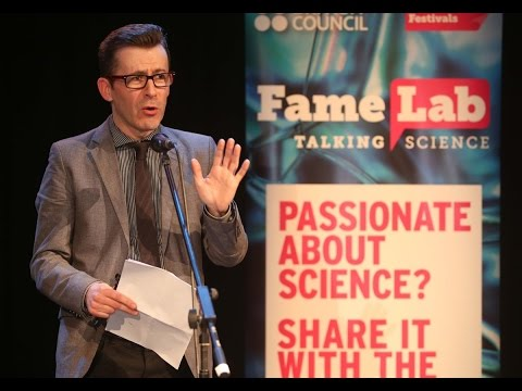 Brian Hughes interval stand-up at FameLab Galway