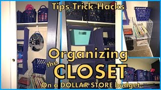 Closet Organizing - Using Dollar Store Bins & Inexpensive Ikea Storage - $20 Closet!