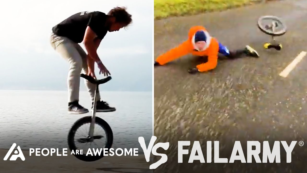 Wins Vs Fails In Unicycling, Weightlifting, Horseback Riding & More | People Are Awesome Vs FailArmy