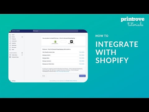 How to Integrate Printrove with Shopify | Printrove Tutorials thumbnail