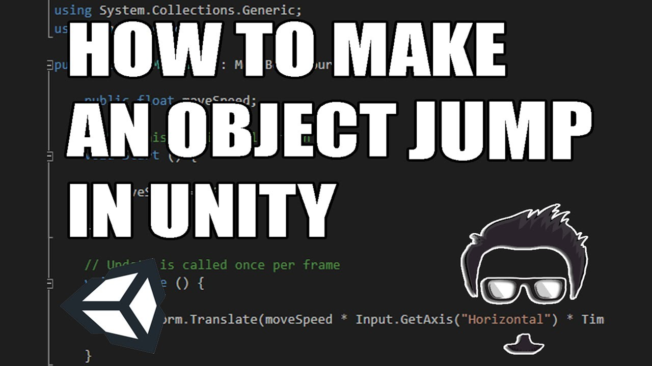 [TUTORIAL] How to make an object jump in Unity w/ Space Key