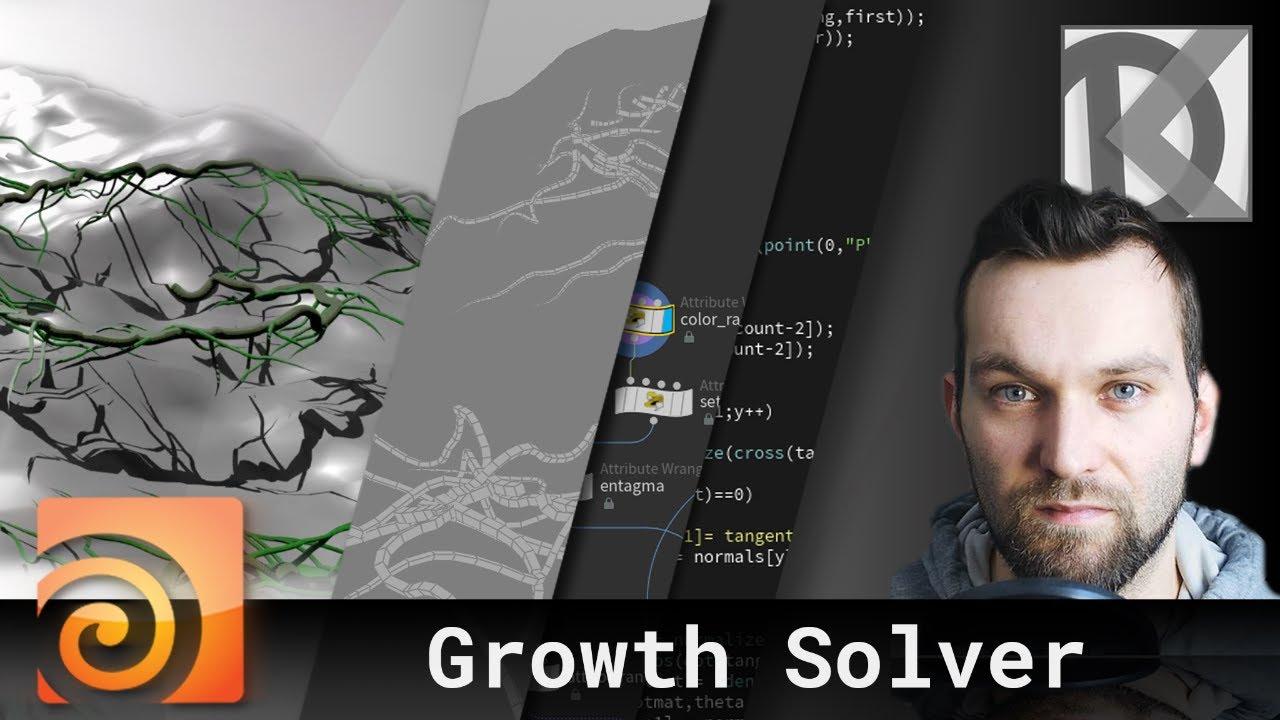 Houdini Growth Solver Tutorial   Floating Island Series #6