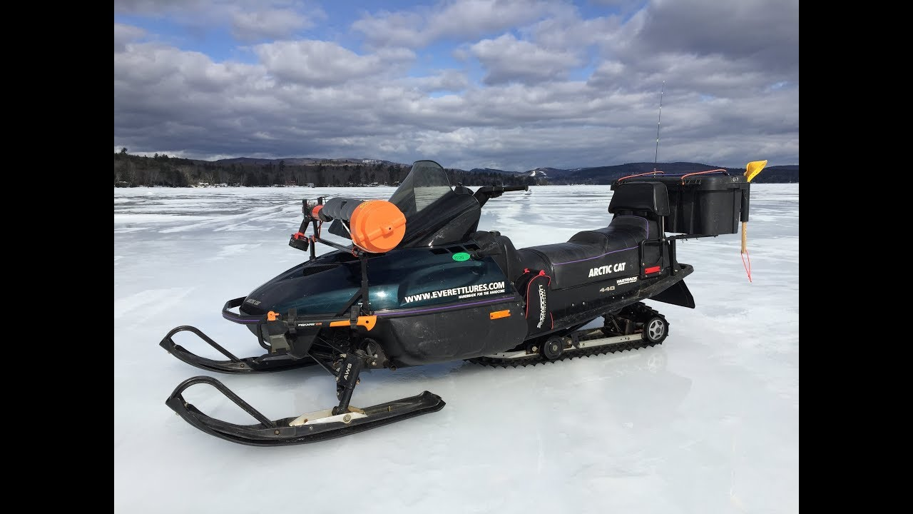 snowmobile mods for ice fishing youtube