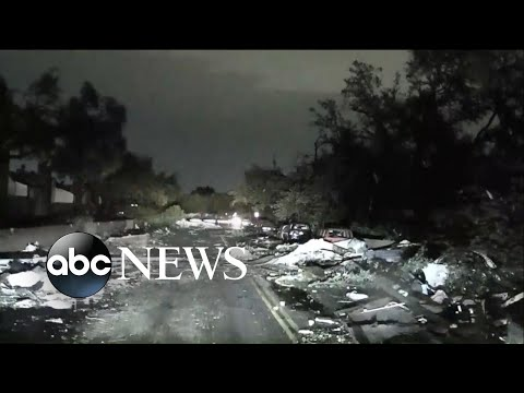 Tornadoes leave trail