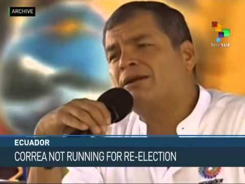 Ecuador: Correa Won't Run for Third Term