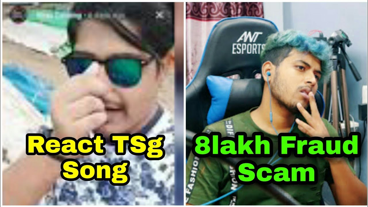 Gayan Gaming react on TSg song || GSK Verified 8 lakha fraud scam in free fire video || Plus Gaming