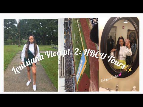 Louisiana Vlog Part 2: HBCU Tours(Xavier U,Dillard U,Grambling State U, Southern A\u0026M University).