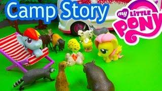 MLP Fash'ems Rainbow Dash Fluttershy Shopkins ROAD TRIP RV Camper My Little Pony Video Series Part 9