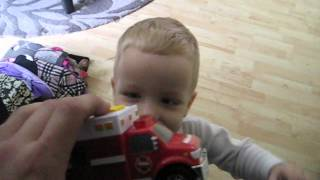 Excited to receive a New Tonka Toy Truck
