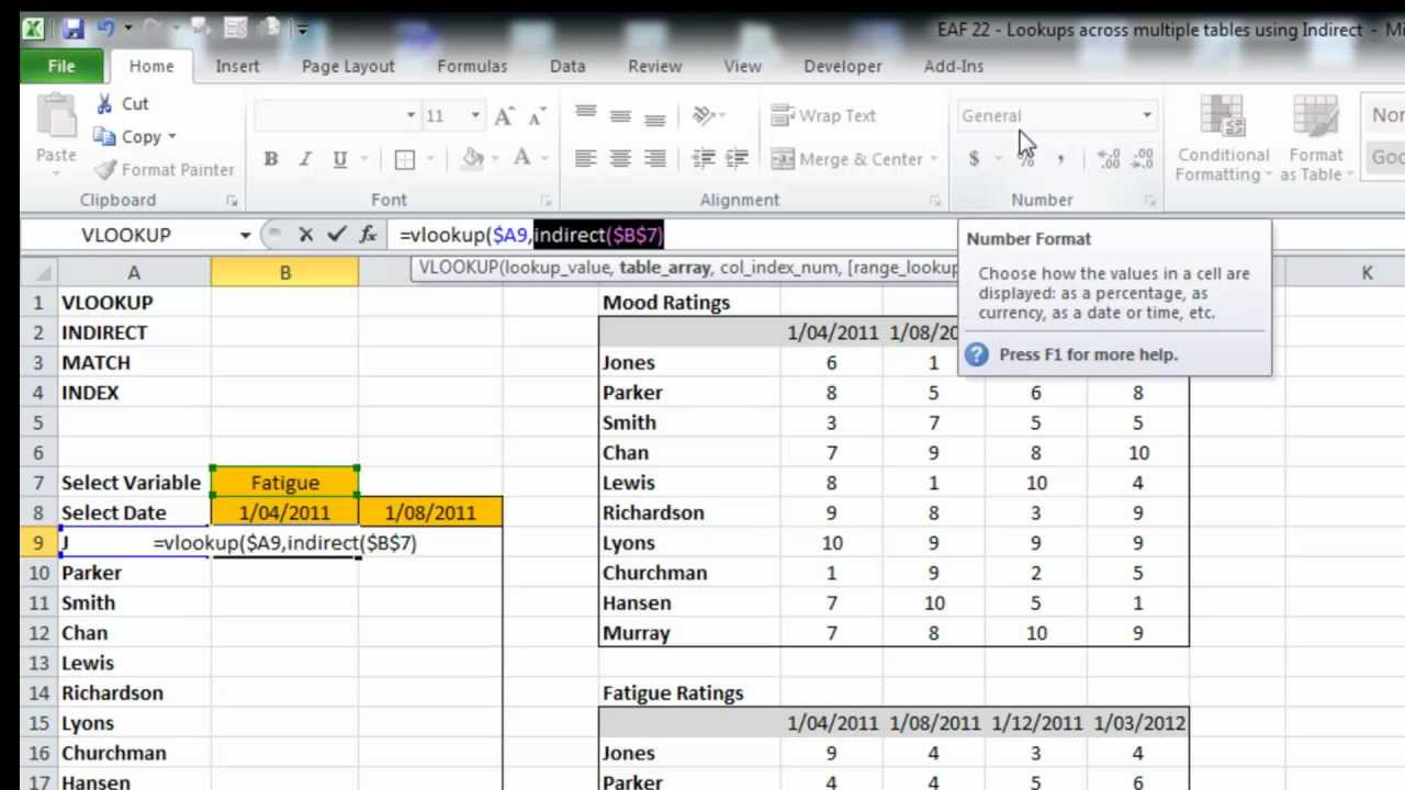 Eaf 22 excel 2010 use vlookup across multiple tables youtube eaf 22 excel 2010 use vlookup across multiple tables gamestrikefo Image collections
