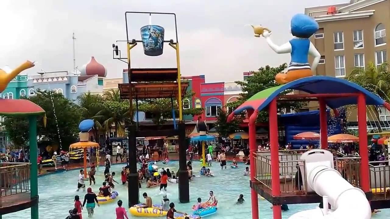Arena Kolam Renang Aladin Kota Depok Fantasi Waterpark Youtube