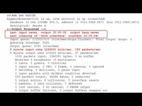 Cisco Show Interfaces Command - YouTube