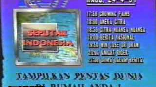 Jadwal Acara RCTI 24-4-1991