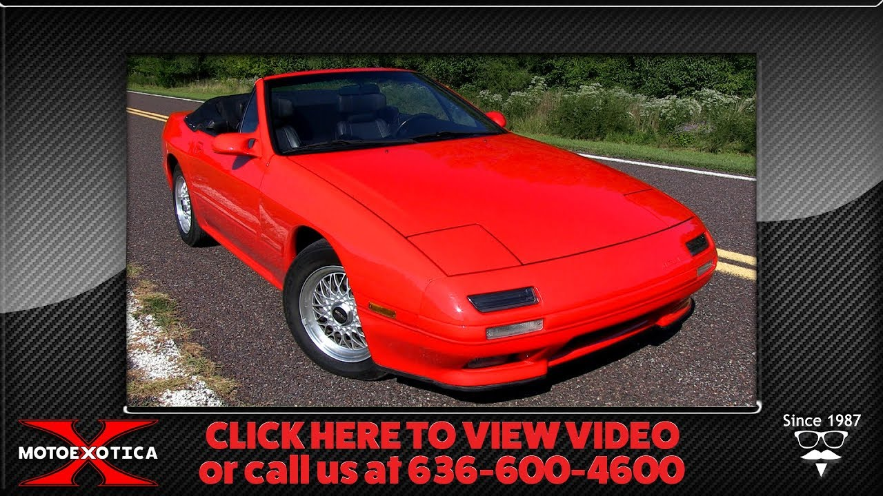 1989 Mazda Rx7 Convertible Sold Youtube