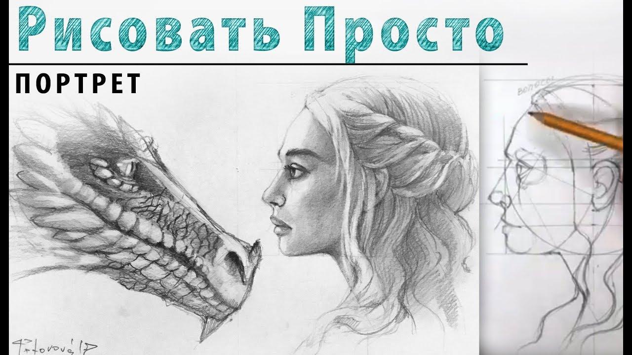 Как нарисовать лицо девушки в профиль карандашом поэтапно фото