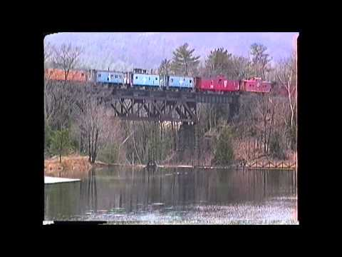 Caboose Train between Tilton and Lincoln,NH on 04/17/1993