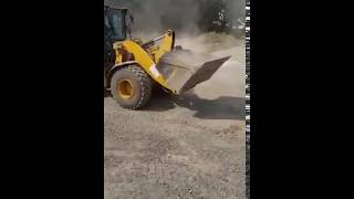 Excavator Driving Prank Colleague