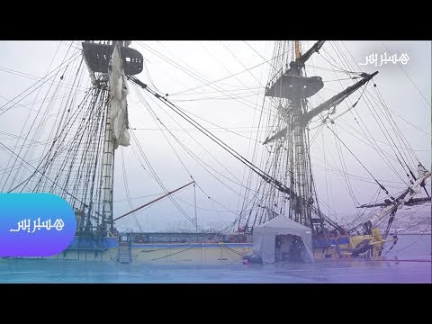 """السفينة العسكرية التاريخية """"هيرميون"""" تحط الرحال بميناء طنجة"""