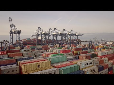 The Port - Felixstowe | The UK's Largest Port | Aerial Views - 4K
