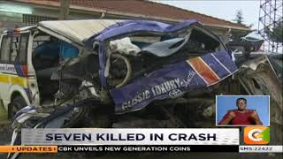 Seven killed in head on collision accident on Nakuru - Eldoret highway