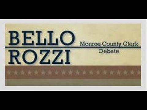 Adam Bello-Cheryl Rozzi Monroe County Clerk Debate