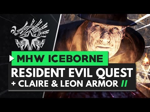 Monster Hunter World Iceborne | Resident Evil Claire & Leon Armor Sets + Zombie Quest!