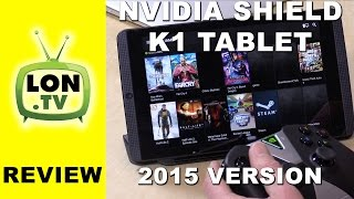 NVIDIA SHIELD Tablet K1 Review - New for 2015 - PC Streaming, Controller, Twitch and more(Buy it on Amazon - http://lon.tv/shield2015 (affiliate link) - The new Shield Tablet K1 has the same guts but a lower price vs. last year's offering. VIDEO INDEX: ..., 2015-11-19T05:54:31.000Z)
