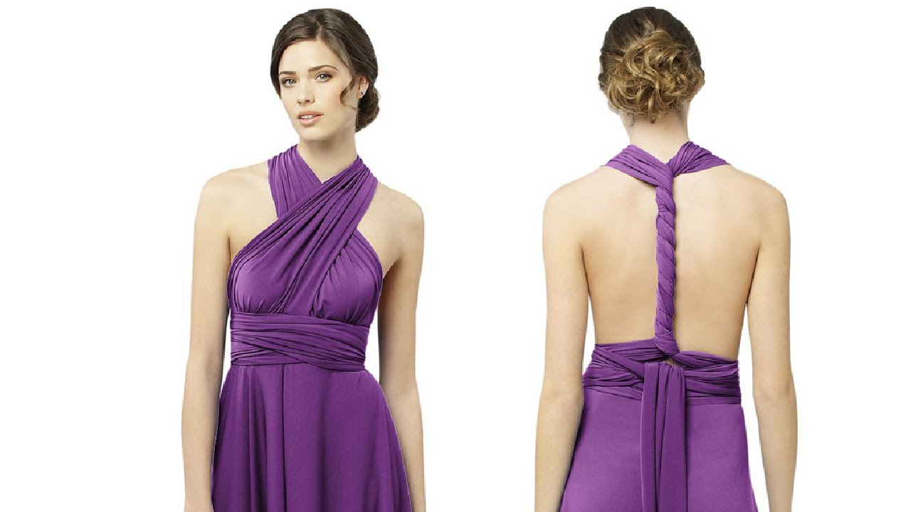 Where to Buy Twist Wrap Bridesmaid Dresses - YouTube