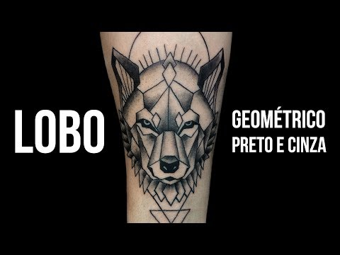 LOBO   Wolf - Geométrico   Geometric - Tattoo Time Lapse #24