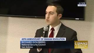 CSPAN coverage of NSC's Richard Goldberg delivering remarks at FDD