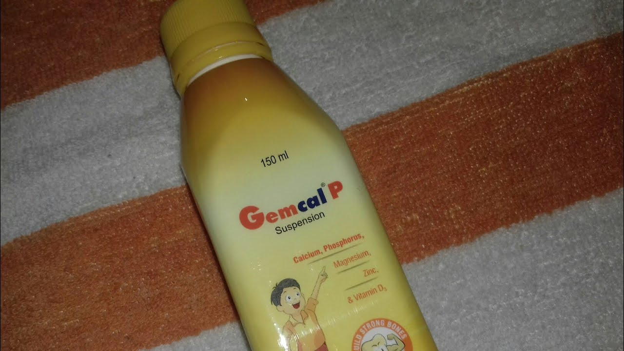 Gemcal P Suspension Calcium Syrup Full Hindi Review Company Alkem