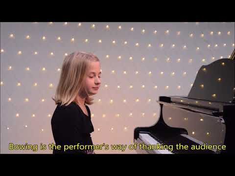 Recital Instructional Video