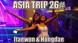 CRAZY RAINY NIGHT IN ITAEWON & Hongdae streets, Karaoke   Seoul Travel Vlog 26# KOREA