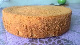 Простой бисквит// Яйца,сахар,мука// Пышный бисквит// Идеальные коржи для торта