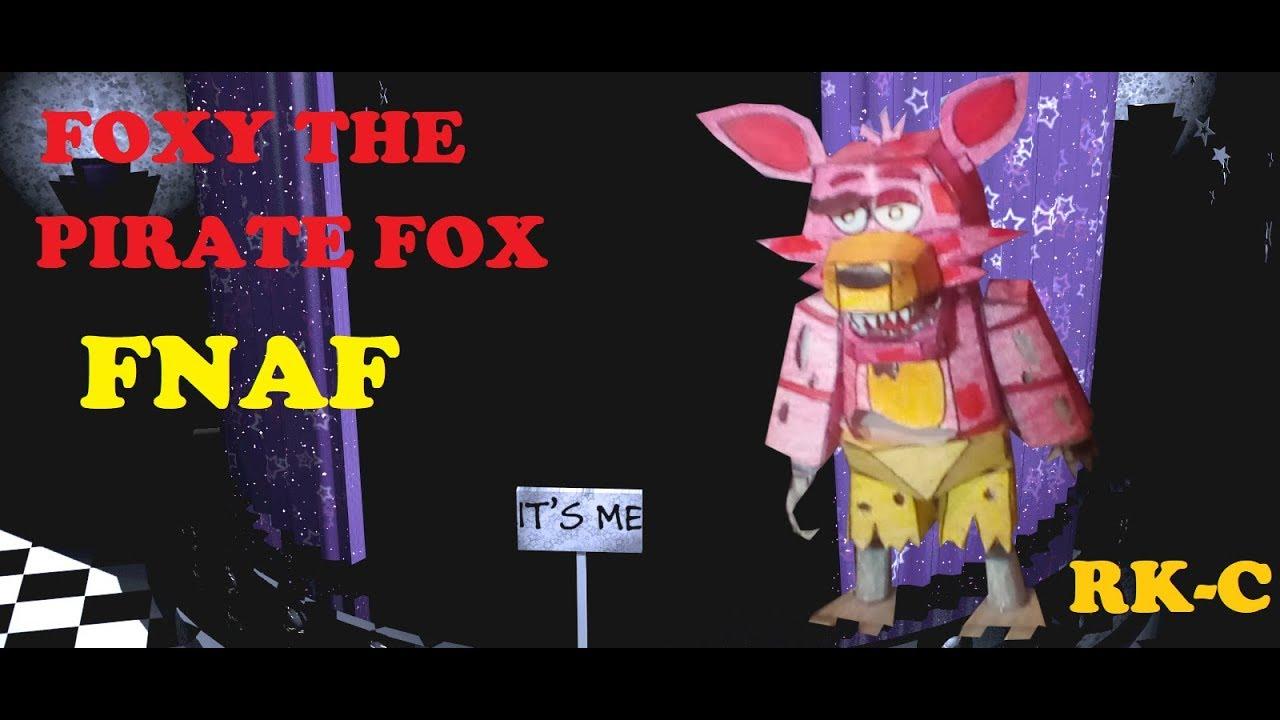 FOXY THE PIRATE FOX PAPERCRAFT TUTORIAL