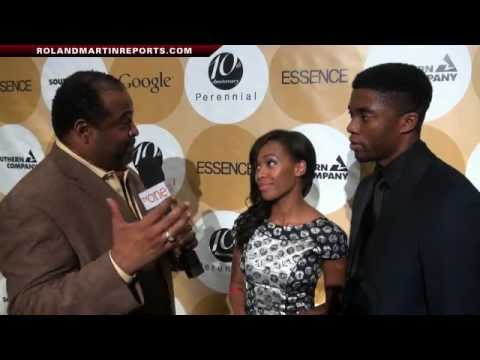 Chadwick Boseman & Nicole Beharie Talk With Roland Martin About 42 In An Exclusive